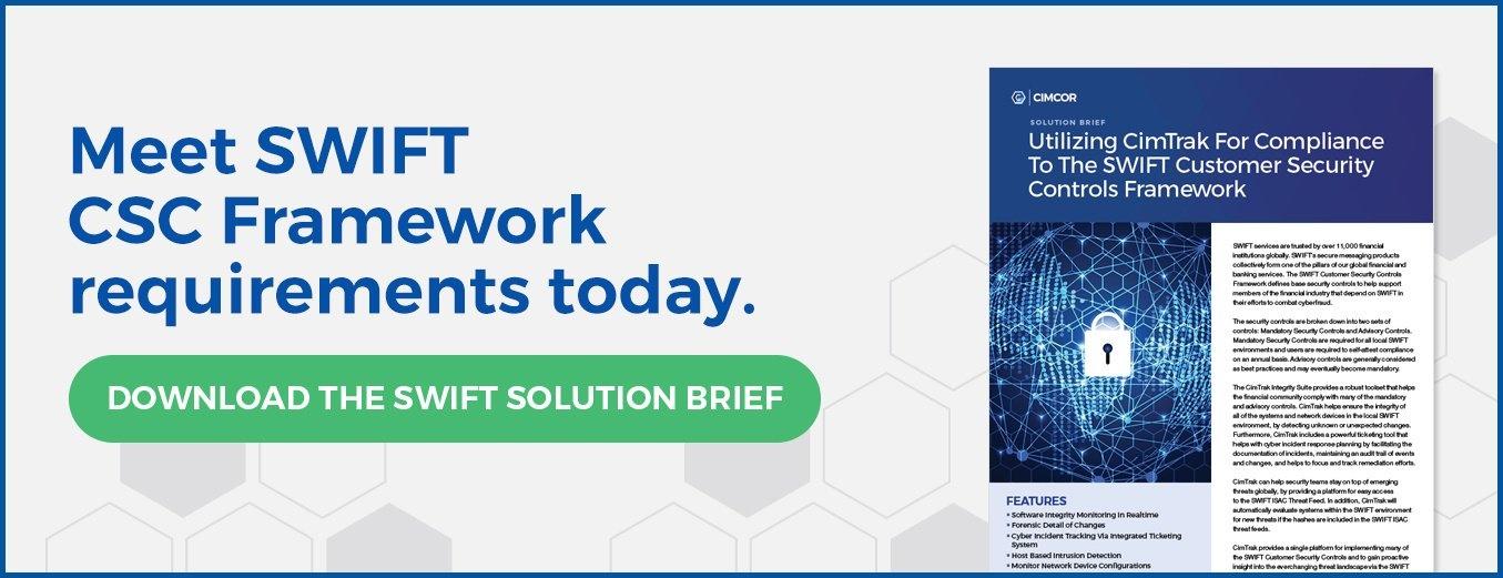 SWIFT Customer Security Controls Framework