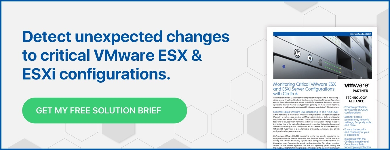 Monitor Critical VMware ESX and ESXi Host Configurations