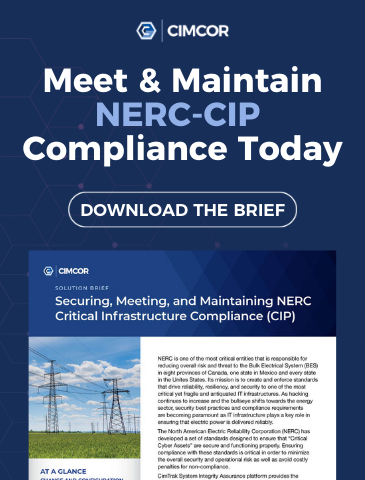 Get your free compliance brief to help you meet & maintain your NERC-CIP compliance today.